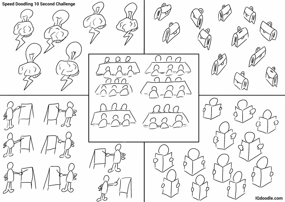 10 second speed doodling business stuff