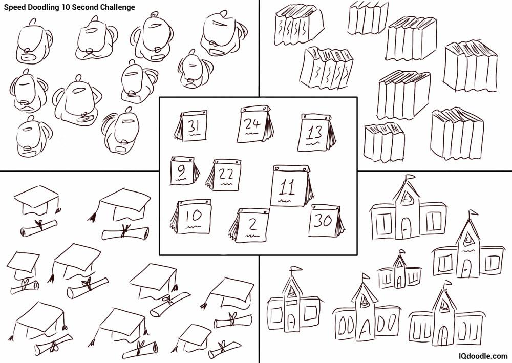 10 second speed doodling school stuff