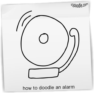 how to doodle alarm small