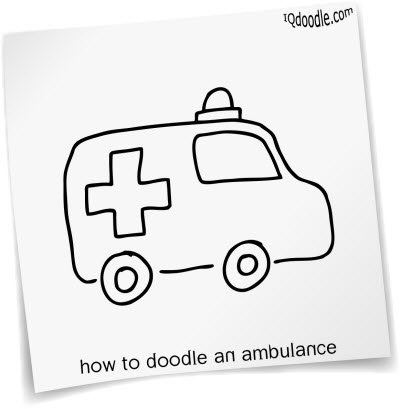 how to doodle ambulance small