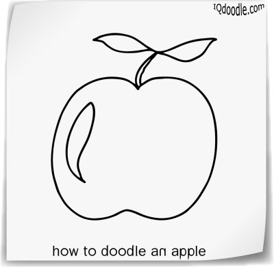 how to doodle apple small