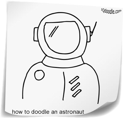 how to doodle astronaut small