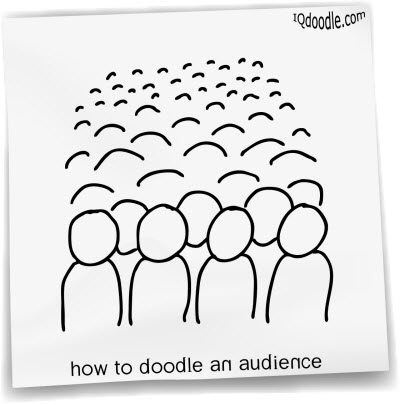 how to doodle audience small