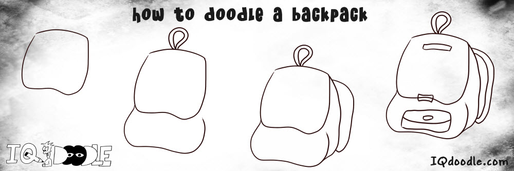 how to doodle backpack