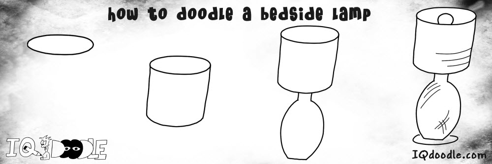 how to doodle bedside lamp preview