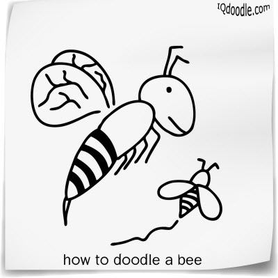 how to doodle bee small