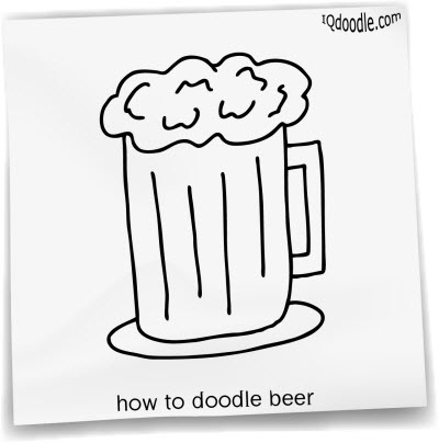 how to doodle beer small
