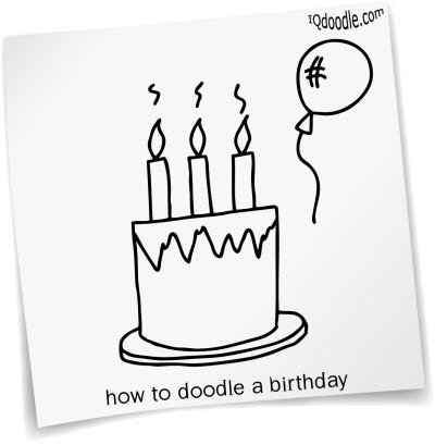 how to doodle birthday cake small