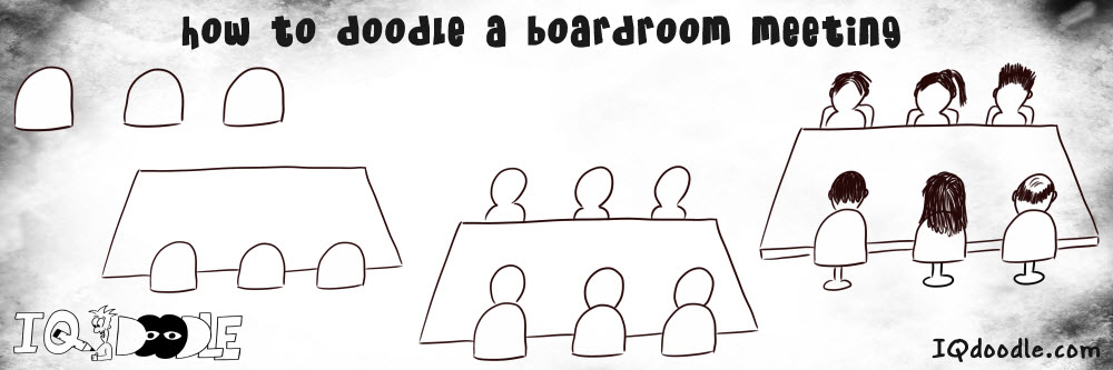 how to doodle boardroom meeting