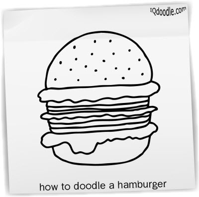 how to doodle burger small