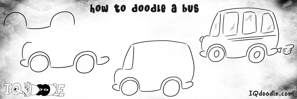 how to doodle bus