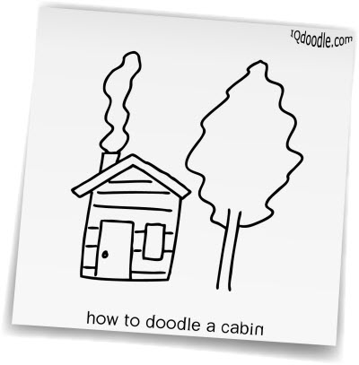 how to doodle cabin small