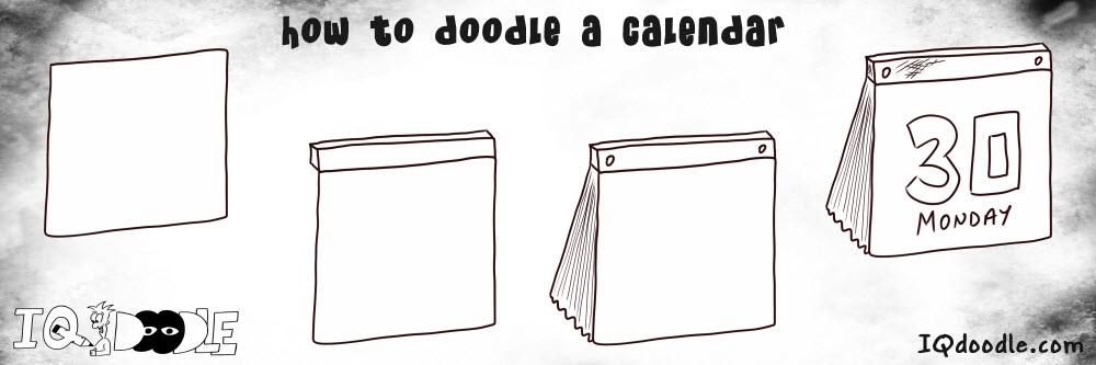 how to doodle calendar
