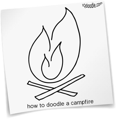 how to doodle campfire small