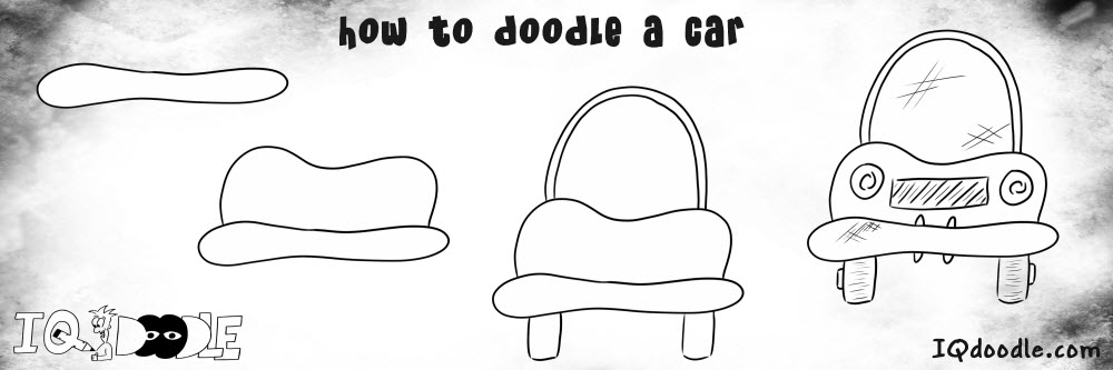 how to doodle car