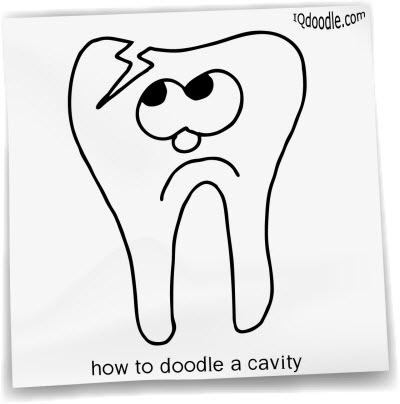 how to doodle cavity small