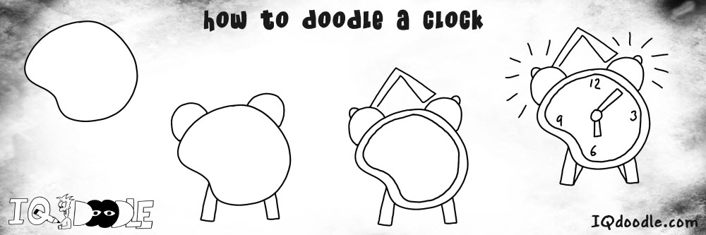 how to doodle clock preview