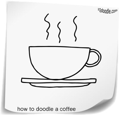 how to doodle coffee small