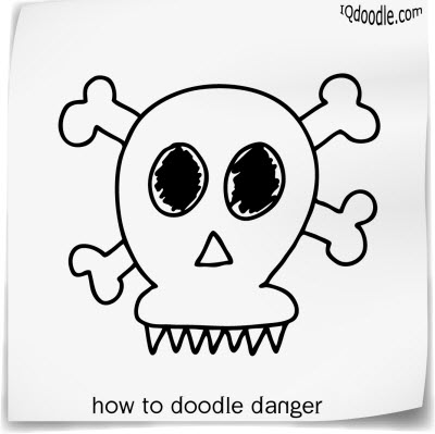 how to doodle danger small