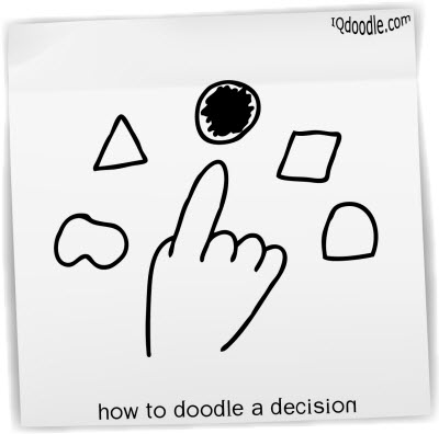 how to doodle decision small