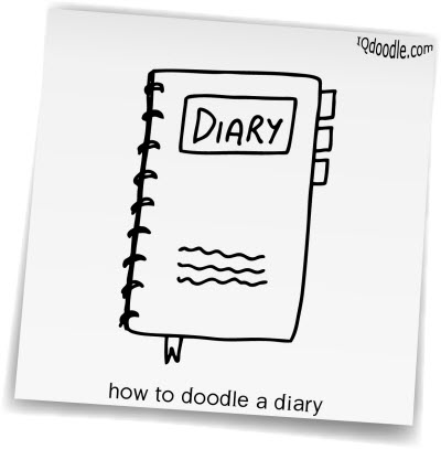 how to doodle diary small