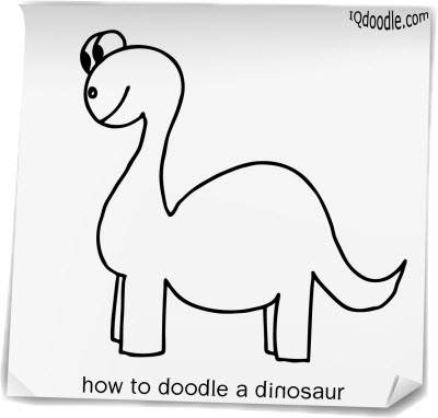 how to doodle dinosaur small
