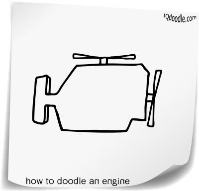 how to doodle engine small