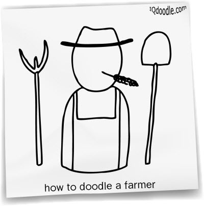 how to doodle farmer small