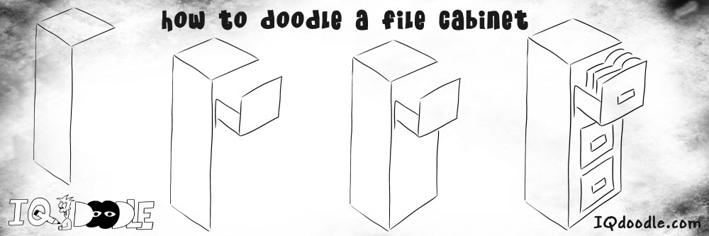 how to doodle file cabinet