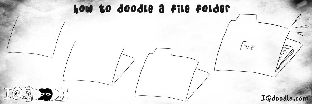 how to doodle file folder
