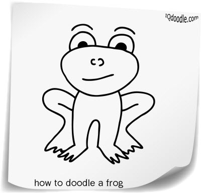how to doodle frog small