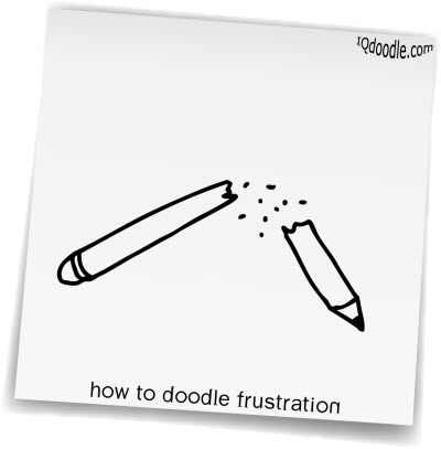 how to doodle frustration small