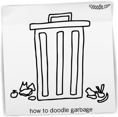 how to doodle garbage small