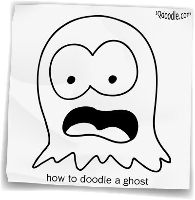 how to doodle ghost small