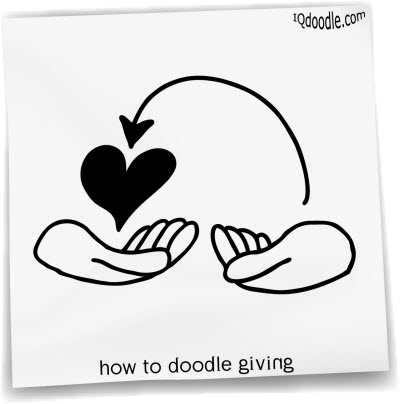 how to doodle giving small