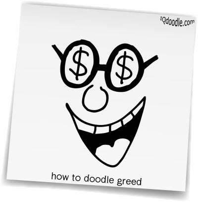 how to doodle greed small