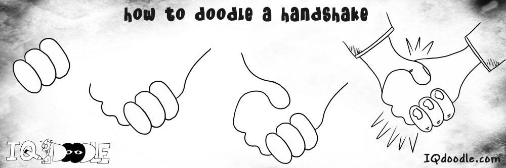 how to doodle handshake