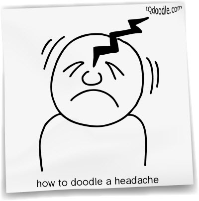 how to doodle headache small