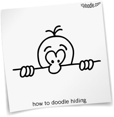 how to doodle hiding small