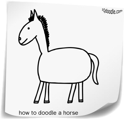 how to doodle horse small