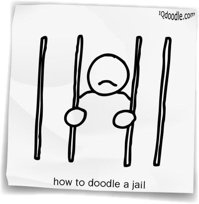 how to doodle jail small