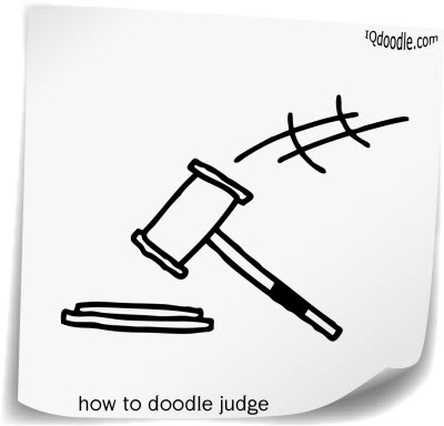 how to doodle judge small