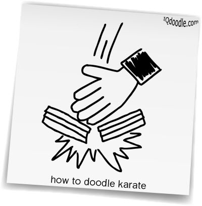 how to doodle karate small
