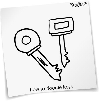 how to doodle keys small