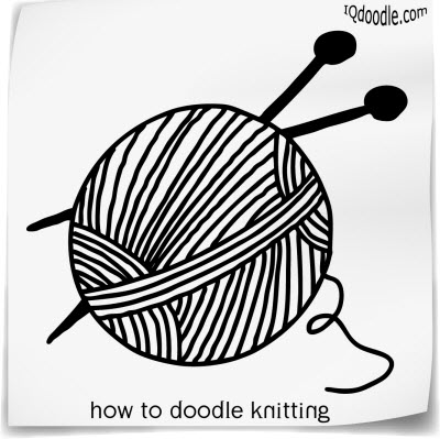 how to doodle knitting small