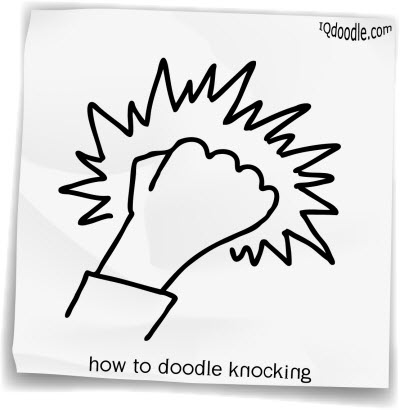 how to doodle knocking small