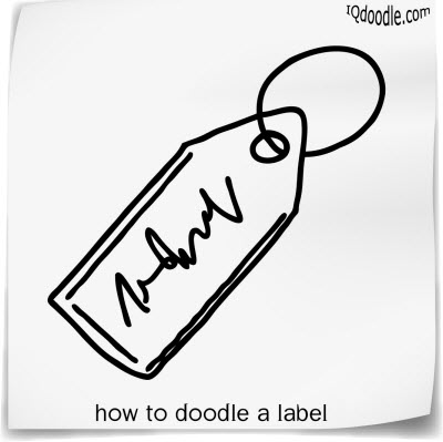 how to doodle label small