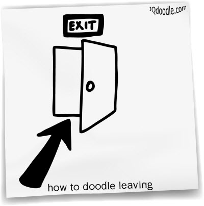 how to doodle leaving small