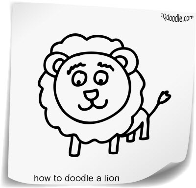 how to doodle lion small