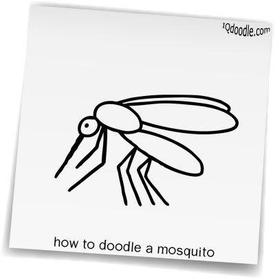 how to doodle mosquito small
